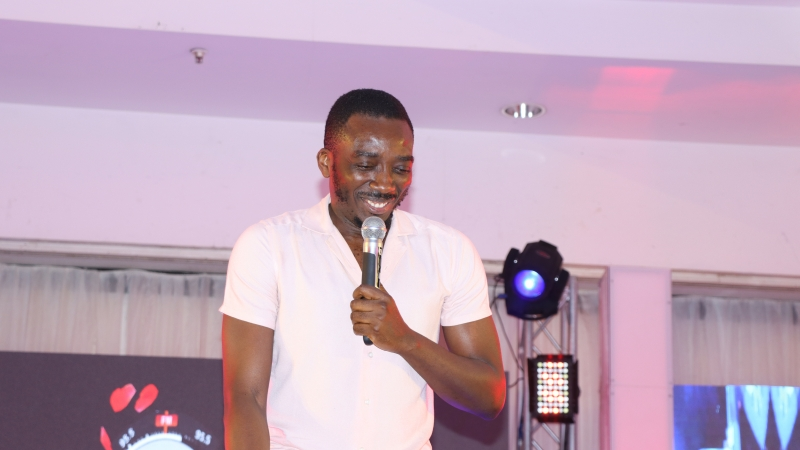Bovi entertaining the guests at BOSS FM 95.5 2020 Valentine's Day Special