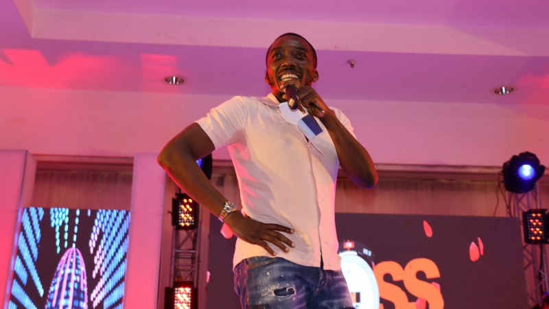 Bovi on stage at BOSS FM 95.5 2020 Valentine's Day Special