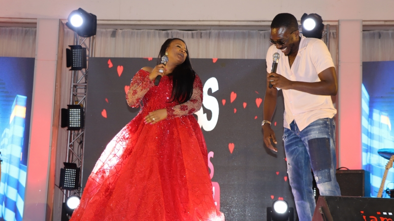 Kambili Osadolor-Ehima and Bovi at BOSS FM 95.5 2020 Valentine's Day Special