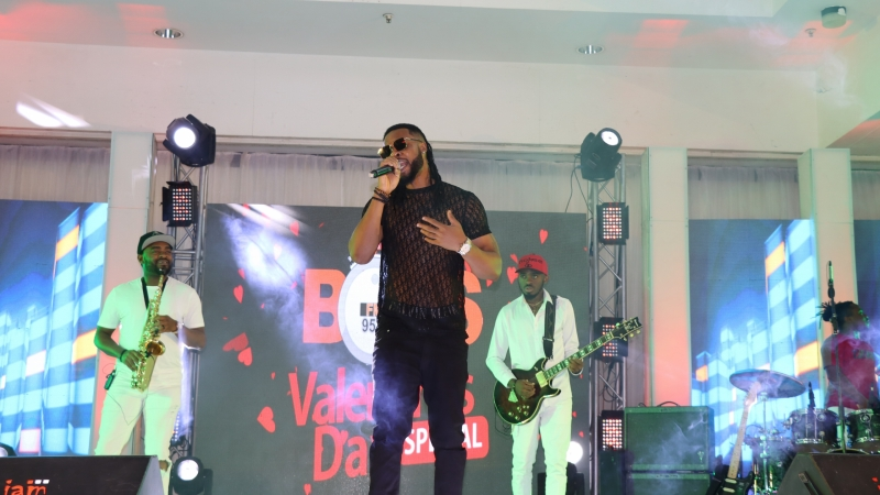 Flavour, Ijele 1 of Africa, performing at BOSS FM 95.5 2020 Valentine's Day Special