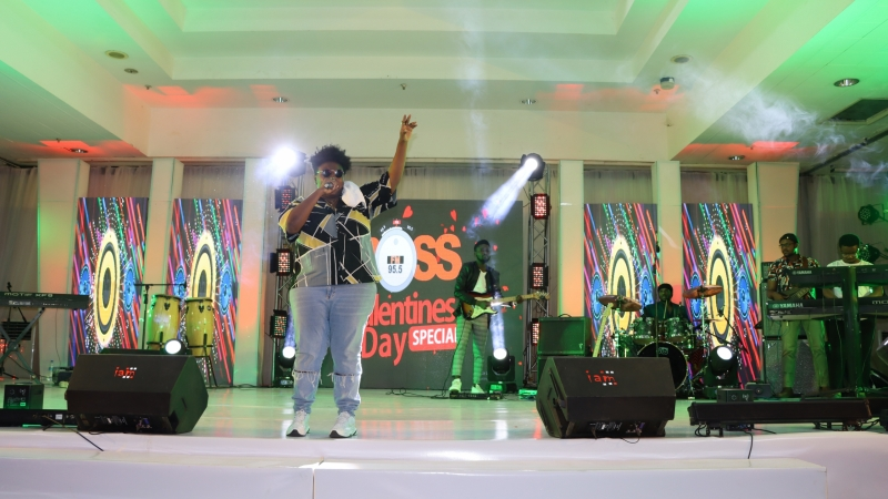 Teni the Entertainer live on stage at BOSS FM 95.5 2020 Valentine's Day Special